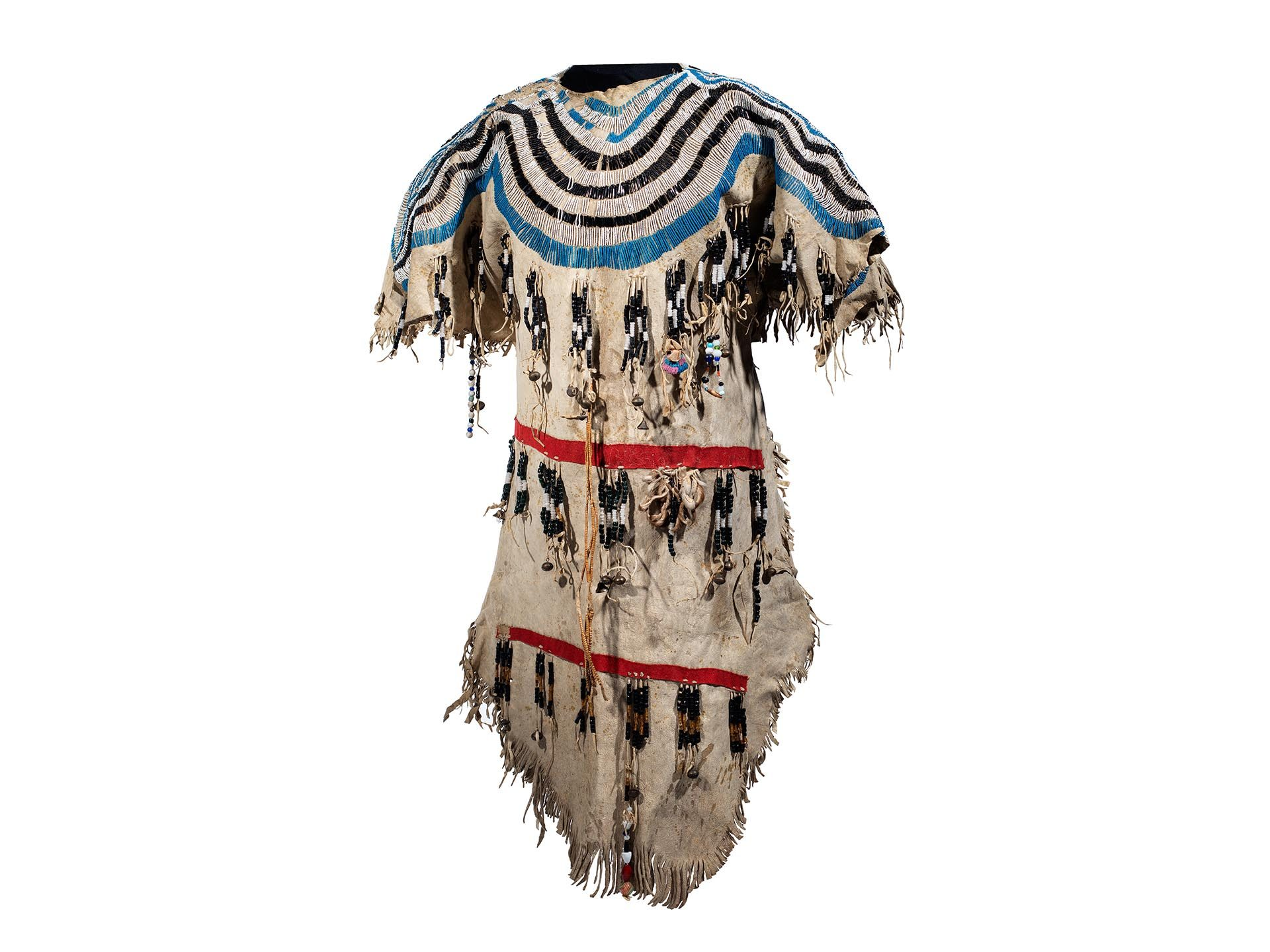 Blackfeet beaded hide dress